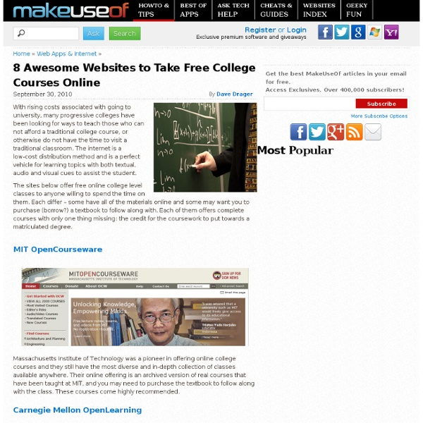 8 Awesome Websites to Take Free College Courses Online