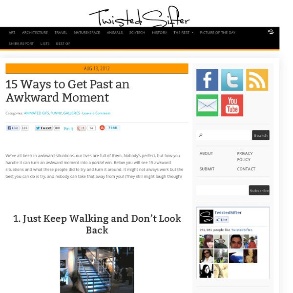 15 Ways to Get Past an Awkward Moment