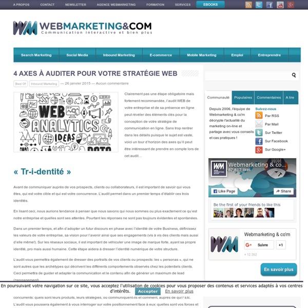 4 axes à auditer pour votre stratégie web
