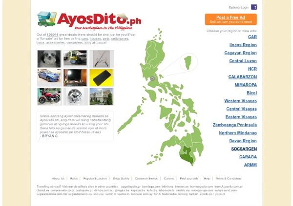 Buy and Sell in the Philippines - AyosDito.ph