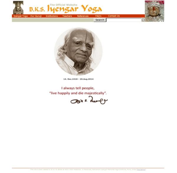 B K S Iyengar - Home