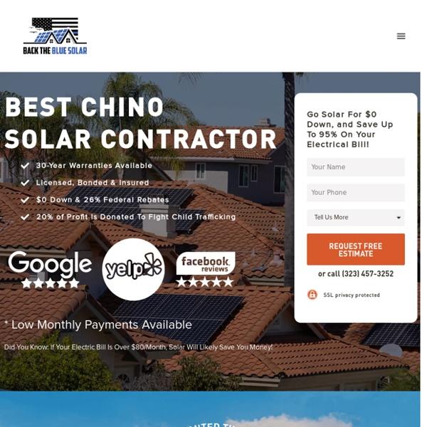 Back The Blue Solar: Best Chino Solar Company