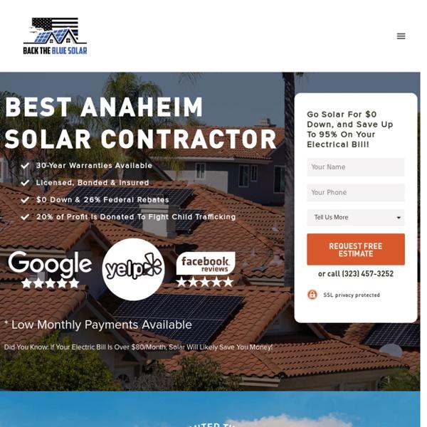 Back The Blue Solar: Best Anaheim Solar Company