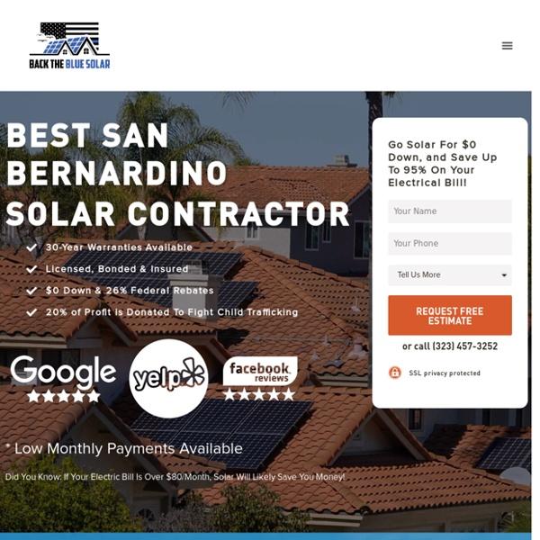 Back The Blue Solar: Best San Bernardino Solar Company
