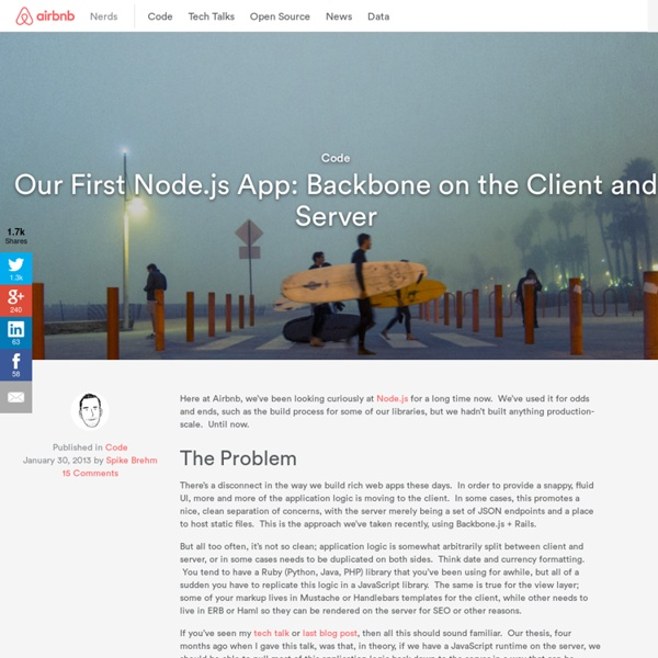 Our First Node.js App: Backbone on the Client and Server