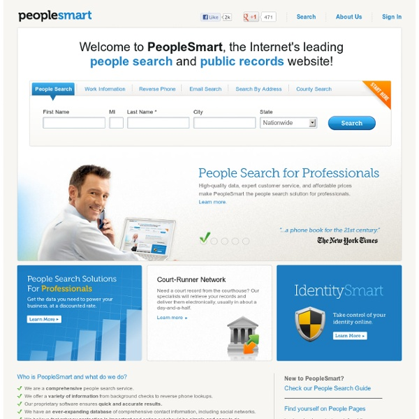 The PeopleSmart People Search - Peoplesmart.com | Skipease