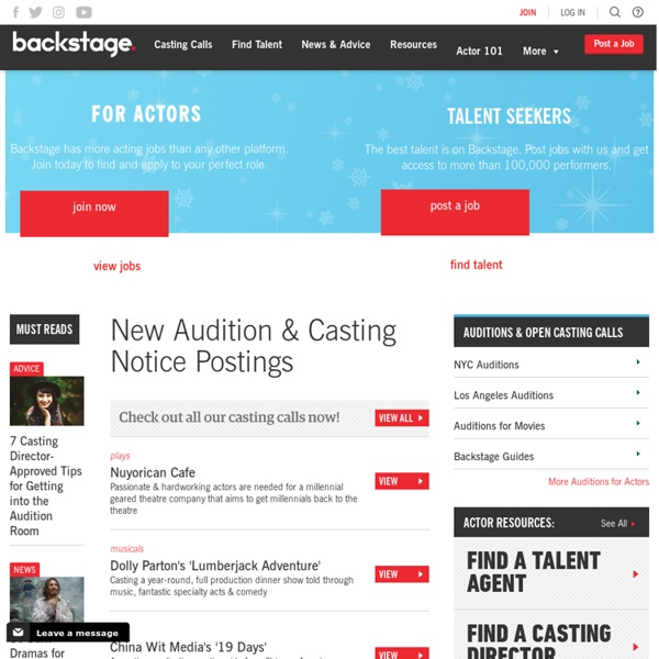 Acting Auditions, Casting Calls, Advice, Casting Directors