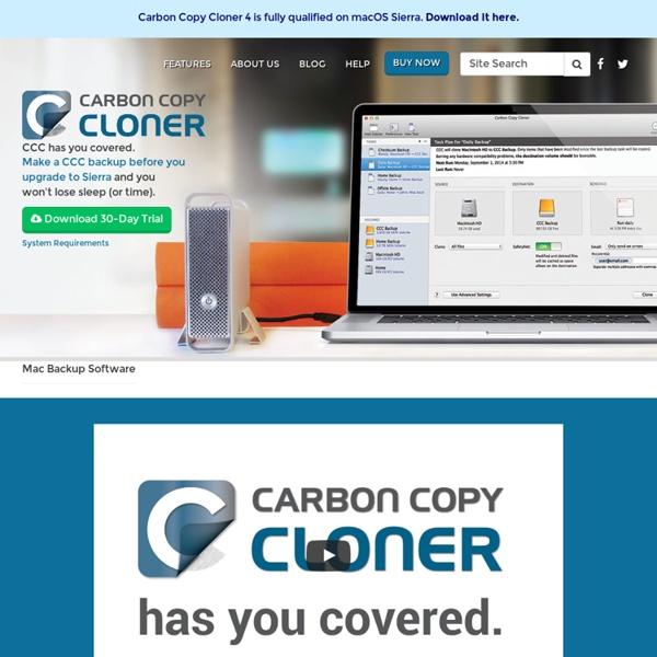 Software: Carbon Copy Cloner