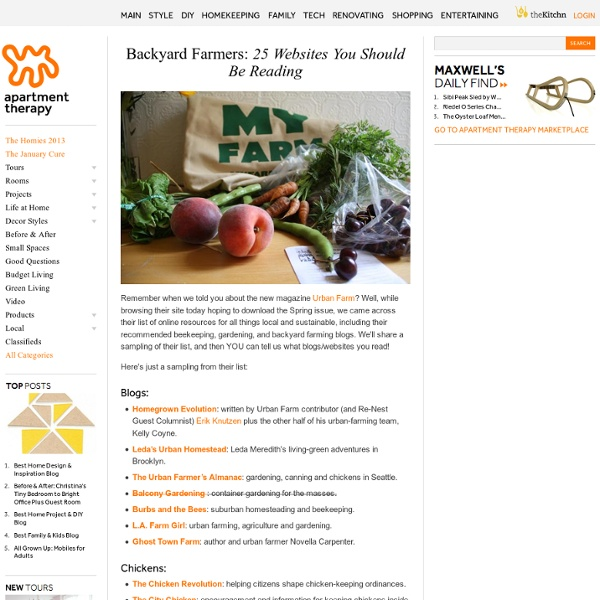 Backyard Farmers: 25 Websites You Should Be Reading