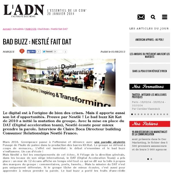 Bad Buzz : Nestlé fait DAT