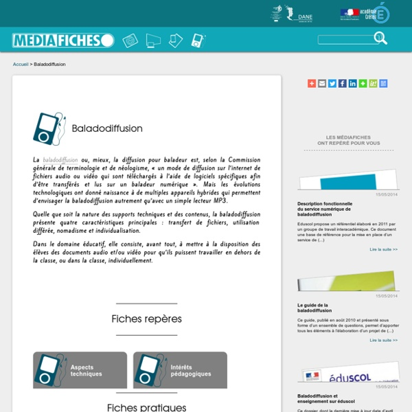 Baladodiffusion - Médiafiches