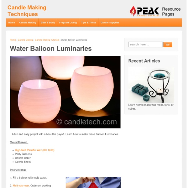 Water balloon luminaries pearltrees for Making luminaries