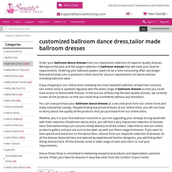 Dance Dress Shop - Ballroom Dance Dresses, Tailor-made Ballroom Dancing Dresses for Sale
