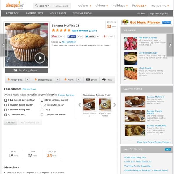 Banana Muffins II Recipe