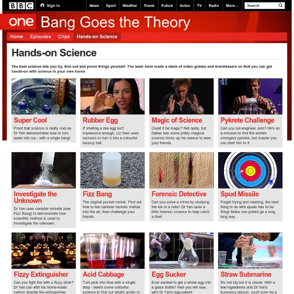 BBC One - Bang Goes the Theory - Hands-on Science