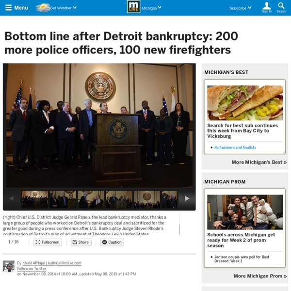 Bottom line after Detroit bankruptcy: 200 more police officers, 100 new firefighters