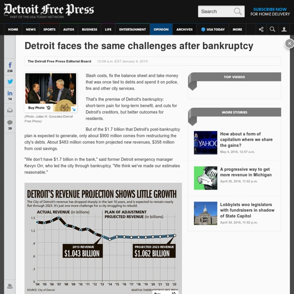 After bankruptcy, few options for Detroit to grow revenue