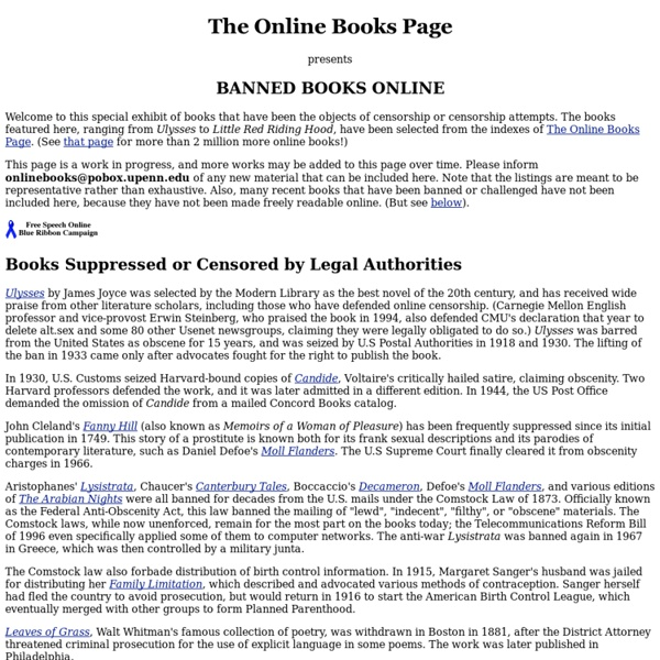 Banned Books Online