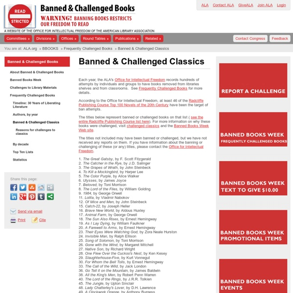 Banned and Challenged Classics