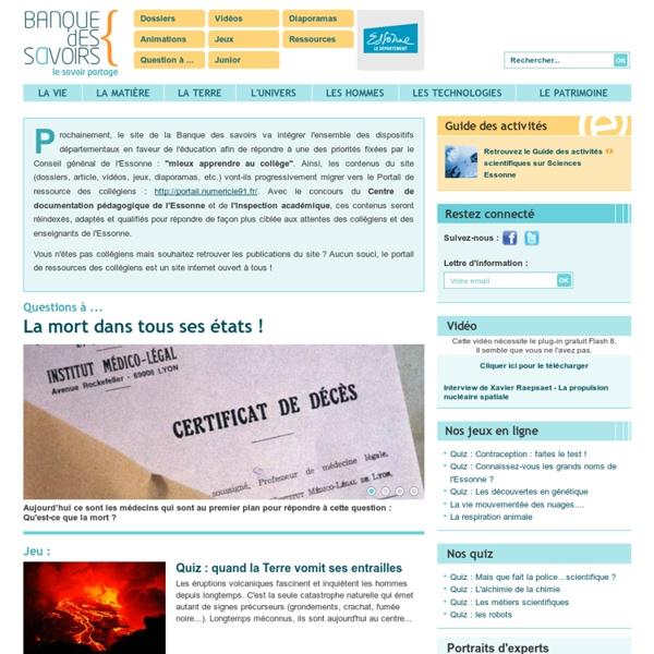 Banque des Savoirs - Essonne