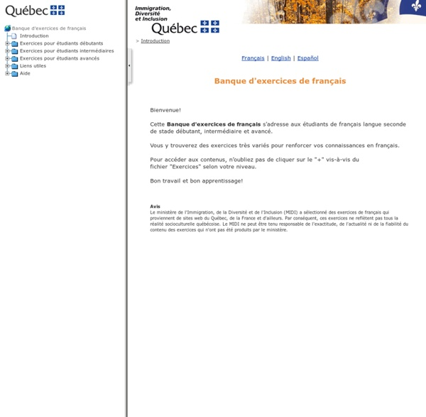Banque d'exercices de français
