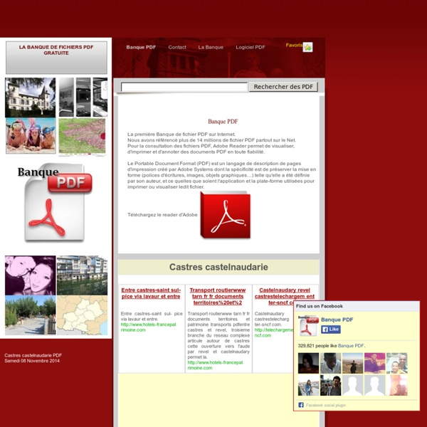 La BANQUE de fichiers PDF gratuite