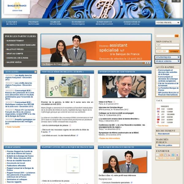 Banque de France Accueil