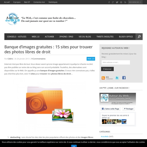 Banque d'images gratuites : 15 sites pour trouver des photos libres de droit