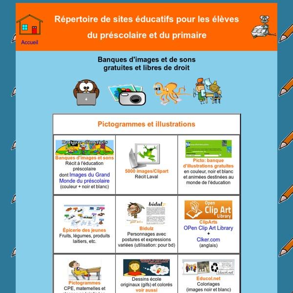 Sites éducatifs pour le préscolaire et le primaire - Banques d'images