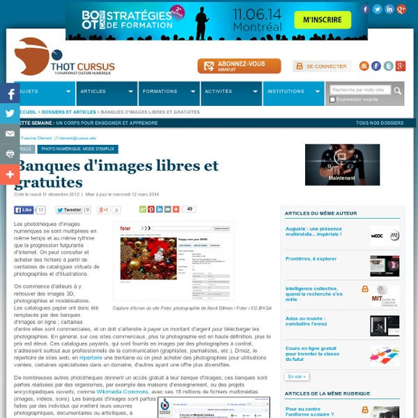 Banques d'images libres et gratuites
