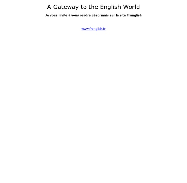 Yvan BAPTISTE's Gateway to the English World