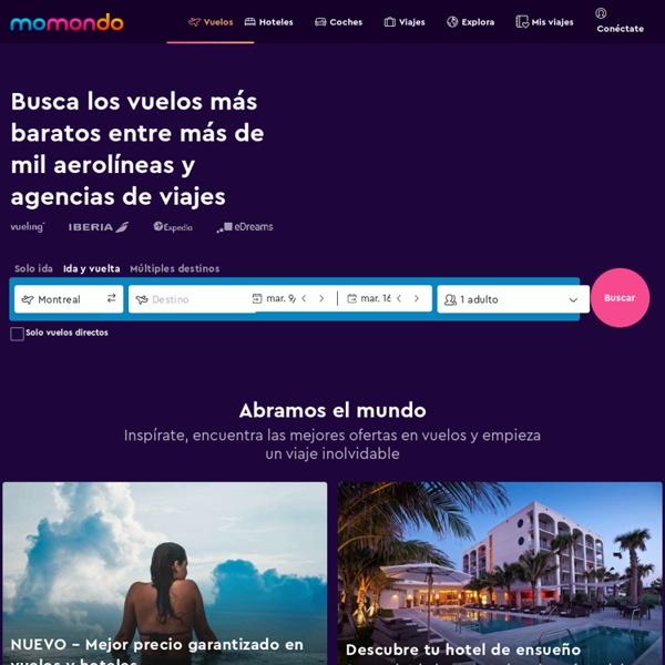 Momondo - vuelos baratos - Turismo Buscador de bajo coste y billetes de avión baratos