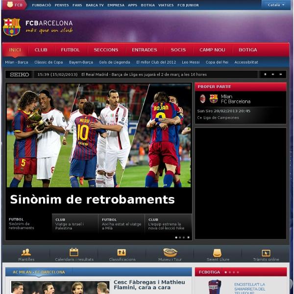 Web oficial del FC Barcelona