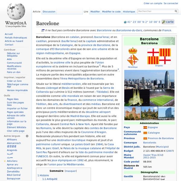 Barcelone : Wikipedia