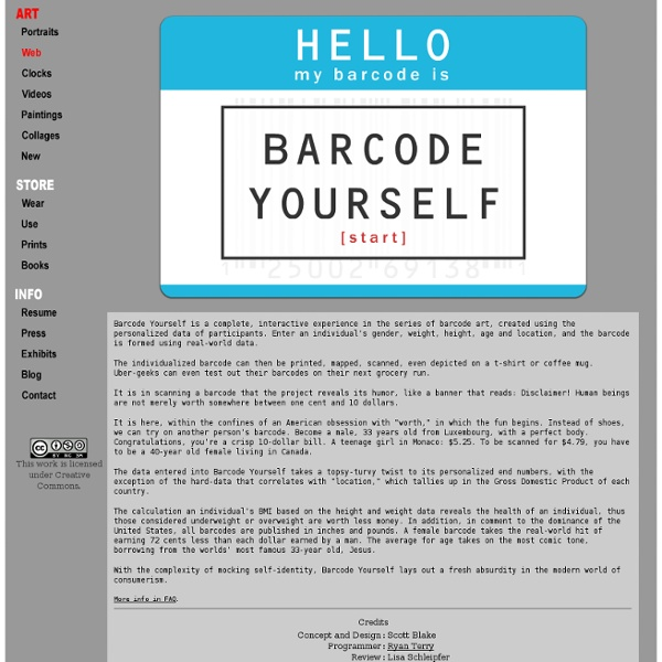 Barcode Yourself by Scott Blake