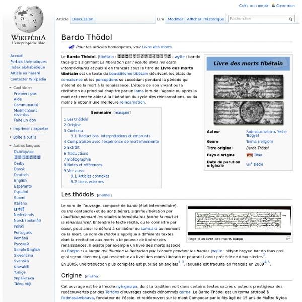 Bardo Thödol : les états de conscience après la mort