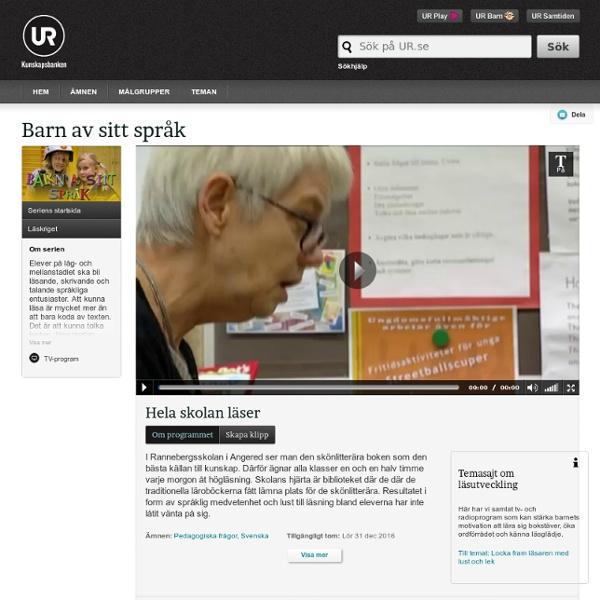 Barn av sitt språk: Hela skolan läser