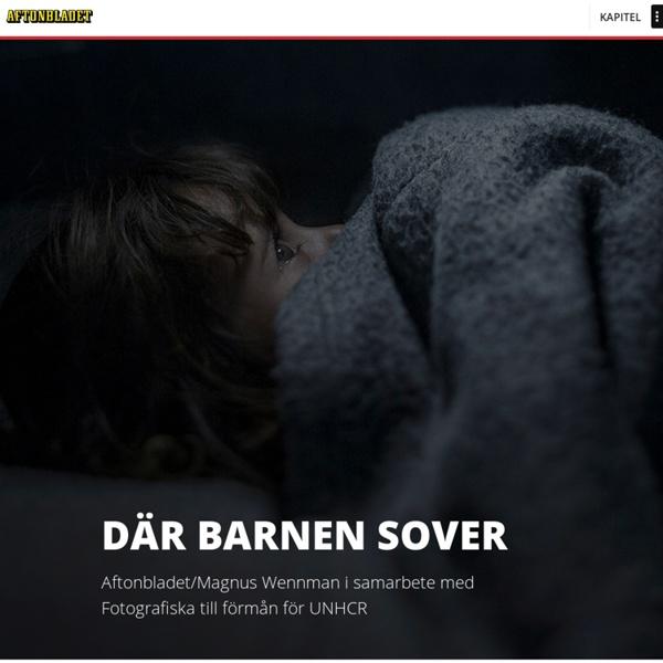 Där barnen sover - Ett fotoprojekt av Magnus Wennman