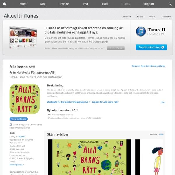 Alla barns rätt för iPhone, iPod touch och iPad från App Store i iTunes
