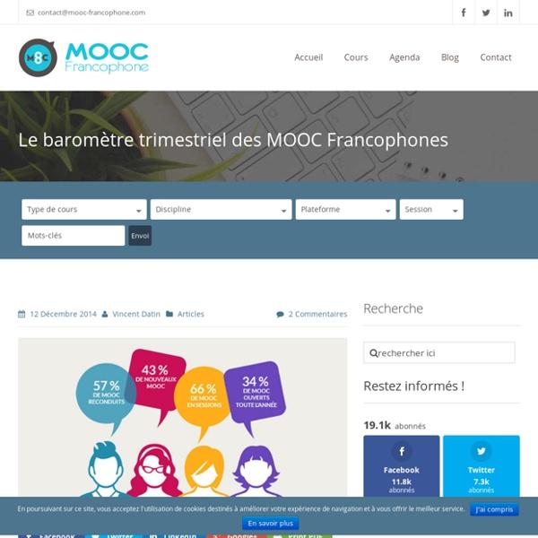 Le baromètre trimestriel des MOOC