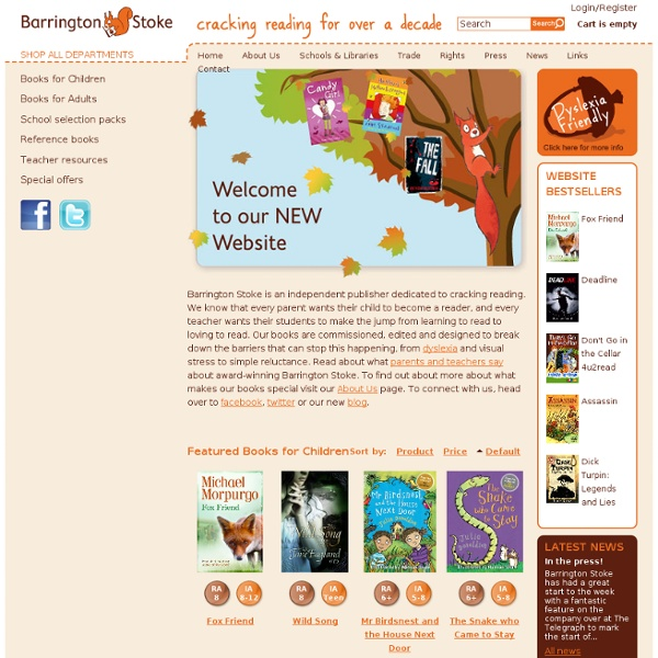 Publishing fantastic books for dyslexic and struggling readers