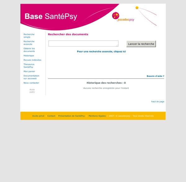 Base SantéPsy