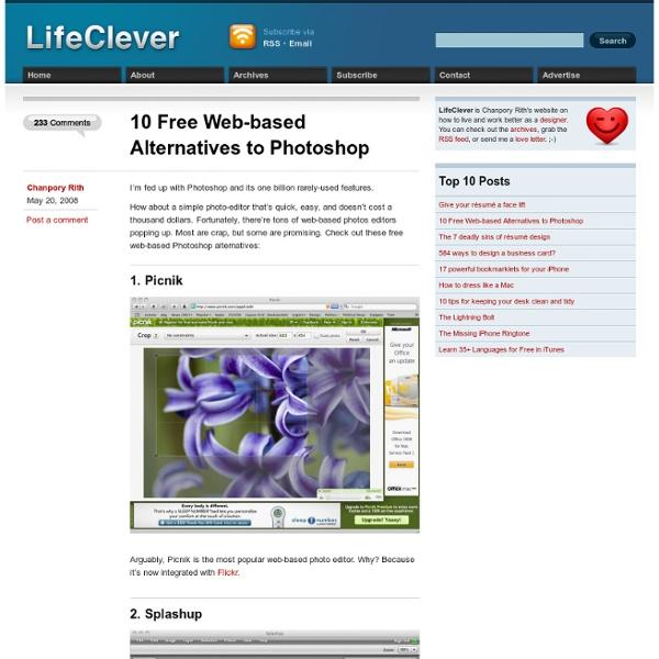 10 Free Web-based Alternatives to Photoshop