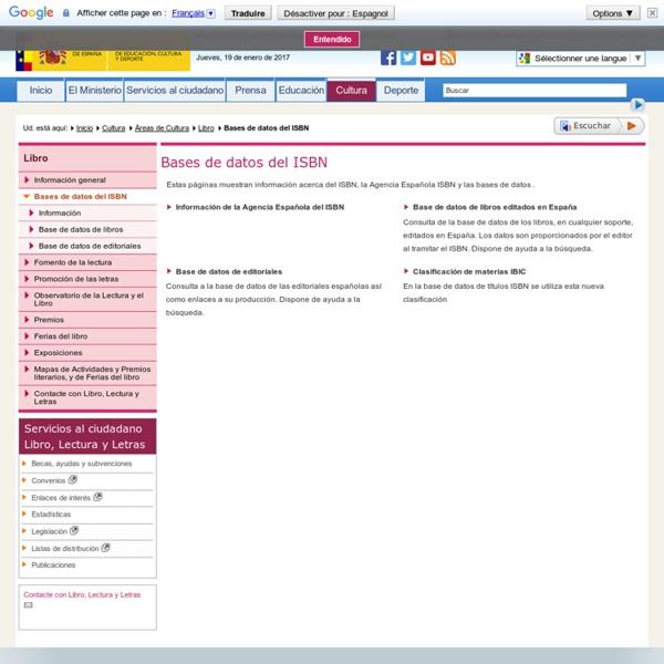 Bases de datos del ISBN