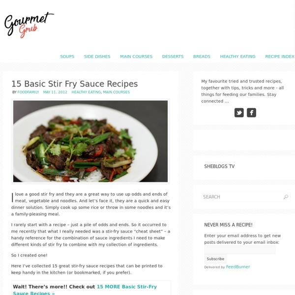 15 Basic Stir Fry Sauce Recipes