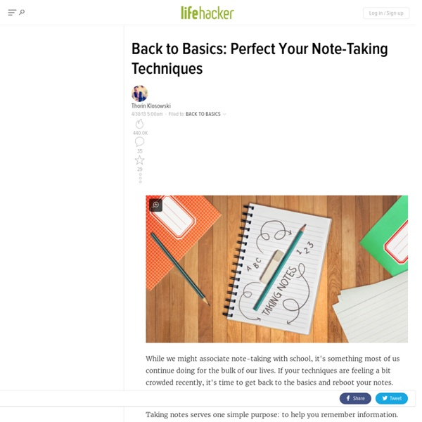 Back to Basics: Perfect Your Note-Taking Techniques