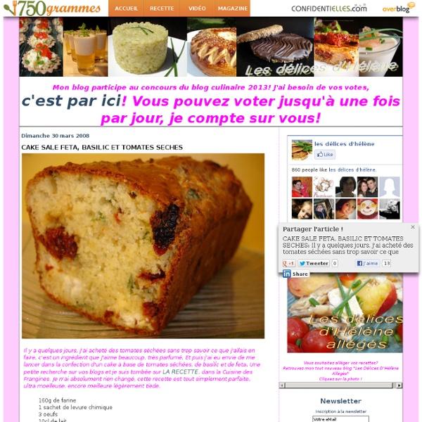 CAKE SALE FETA, BASILIC ET TOMATES SECHES