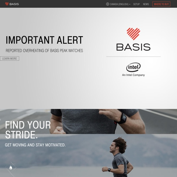 Basis — health and heart rate monitor for wellness and fitness