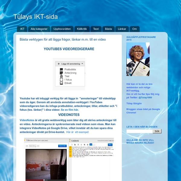Bästa verktygen för att lägga frågor, länkar m.m. till en video
