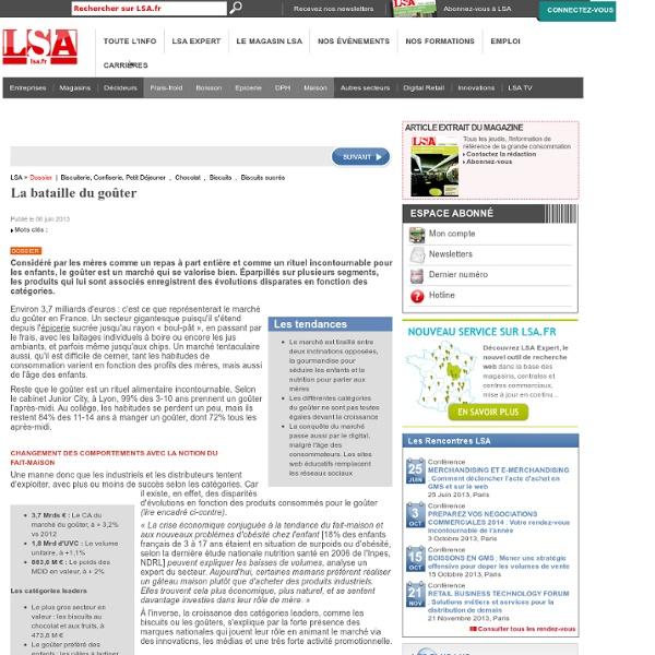 La bataille du goûter - Dossiers LSA Conso